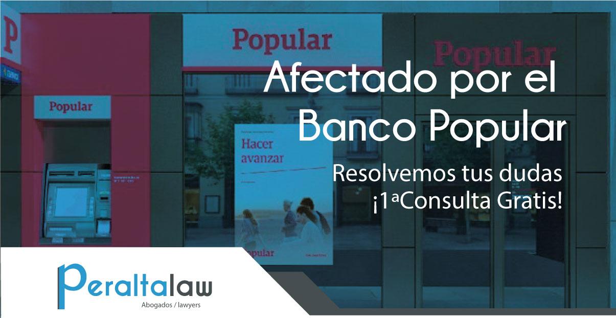Peraltalaw abre una plataforma para informar accionista for Oficinas banco popular malaga